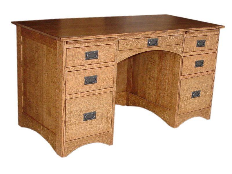 Amish 56 Inch Flat Top Desk