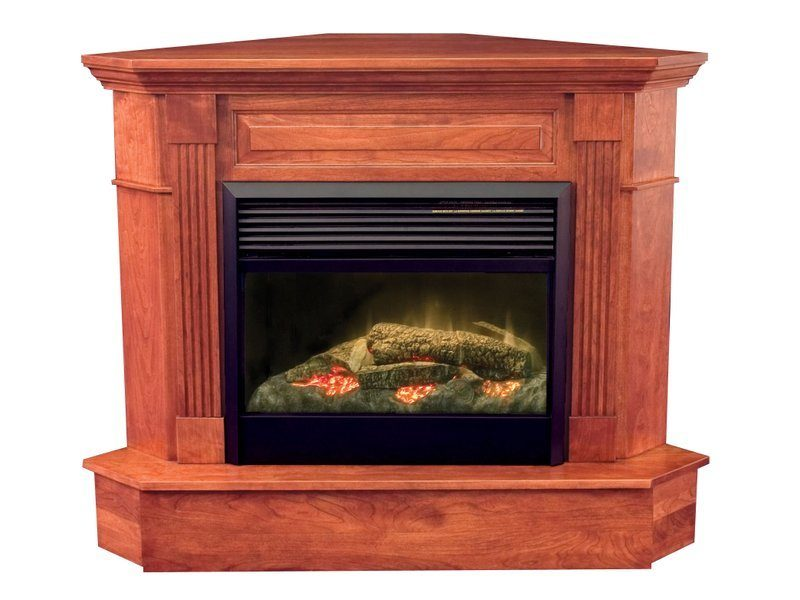 Amish Charleston Corner Fireplace
