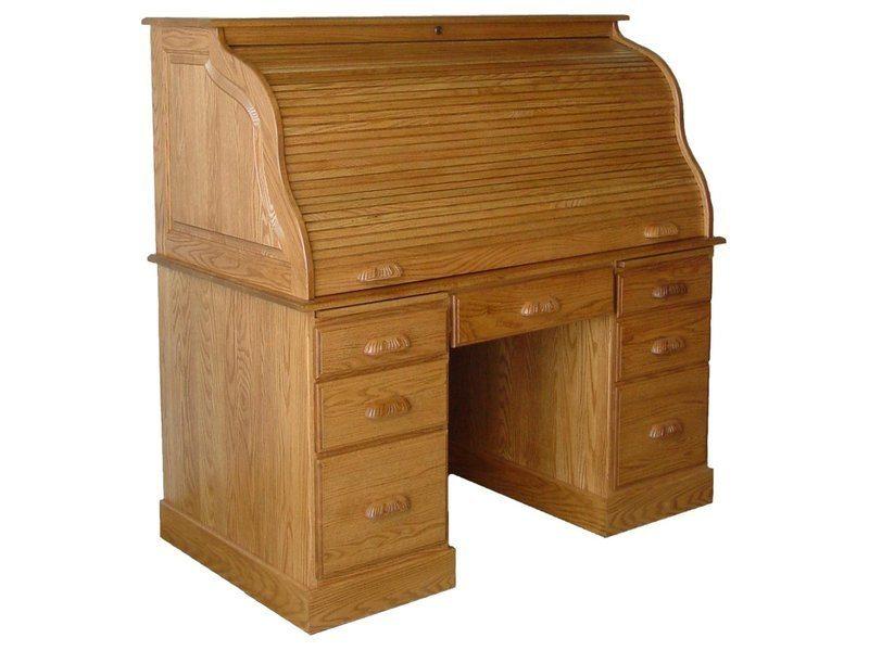 Amish Computer Roll Top Desk