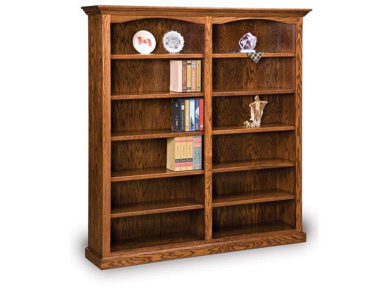Amish Hoosier Heritage 10 Shelf Double Bookcase