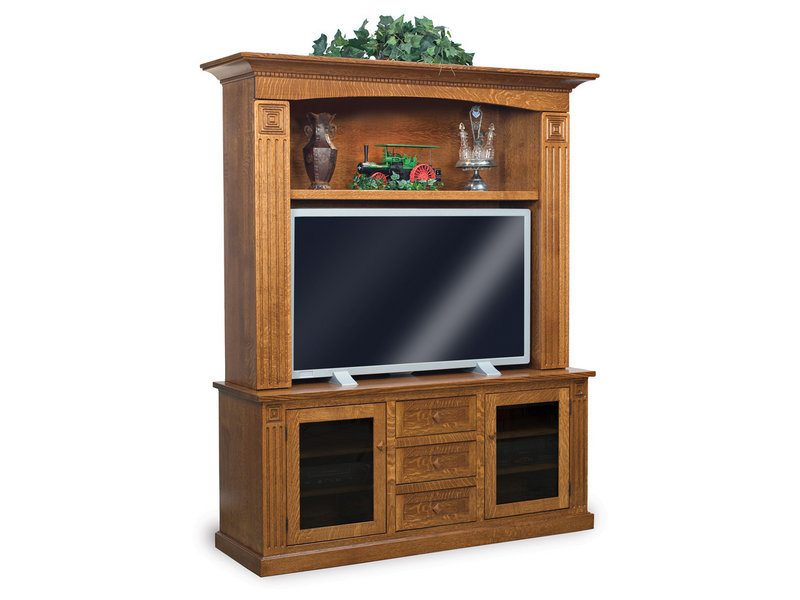 Amish Manhattan Mission Two-Piece Home Theater Entertainment Center