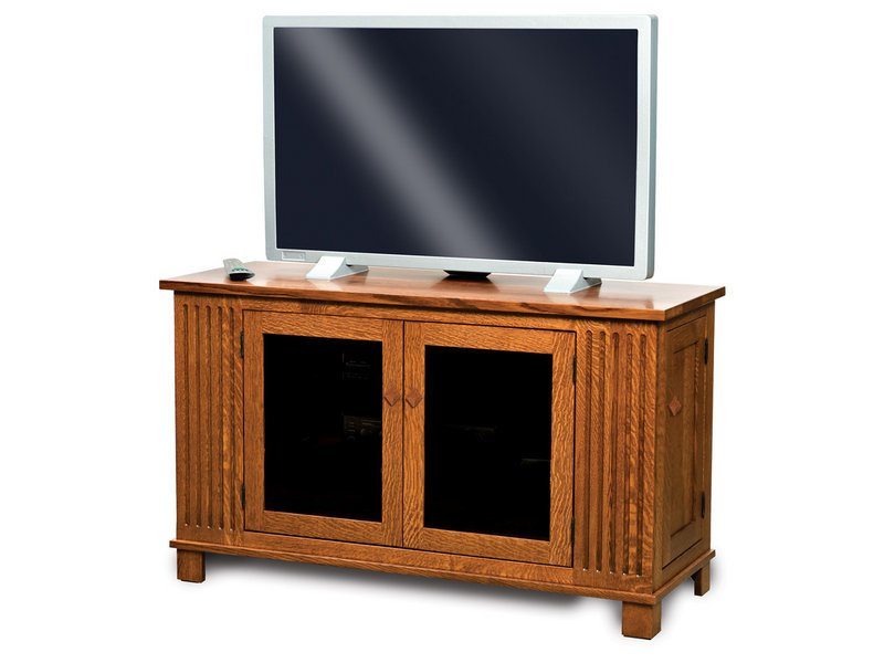 Amish Mission Four Door LCD Stand