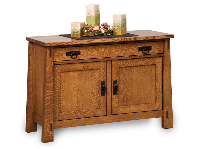 Amish Modesto Enclosed Sofa Table with Drawer