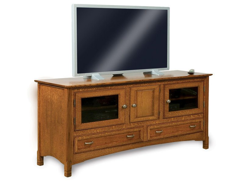 Amish West Lake Three Door, Two Drawer LCD Stand