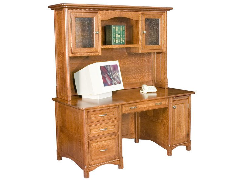 Amish Westlake Straight Desk with Hutch
