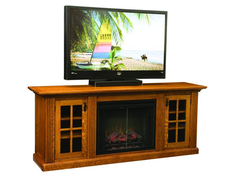Amish Weston Home Theater with Fireplace