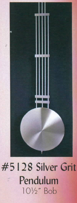 Silver Grandfather Clock Pendulum 5128