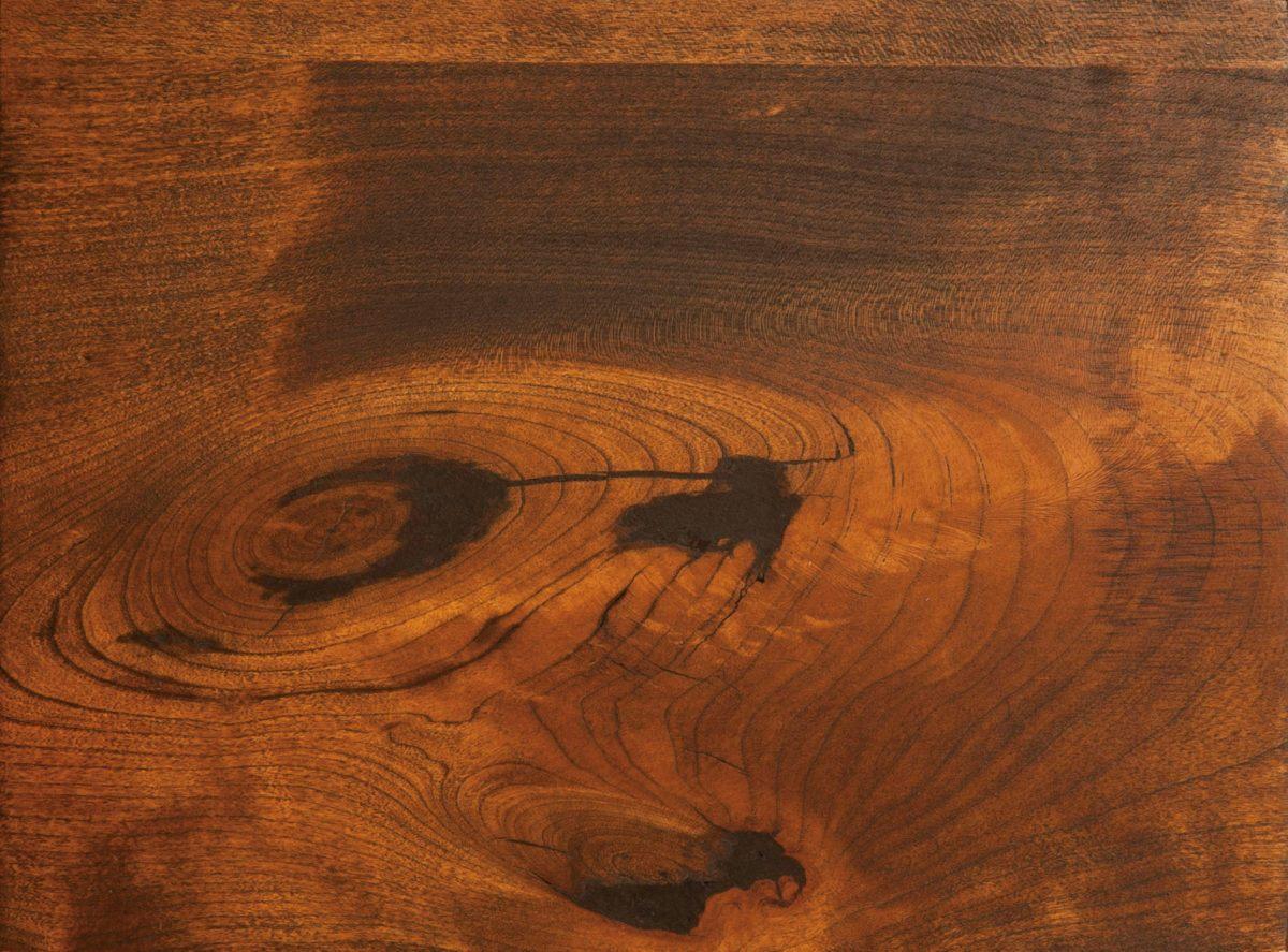 Black Epoxy Filled Wood Knots